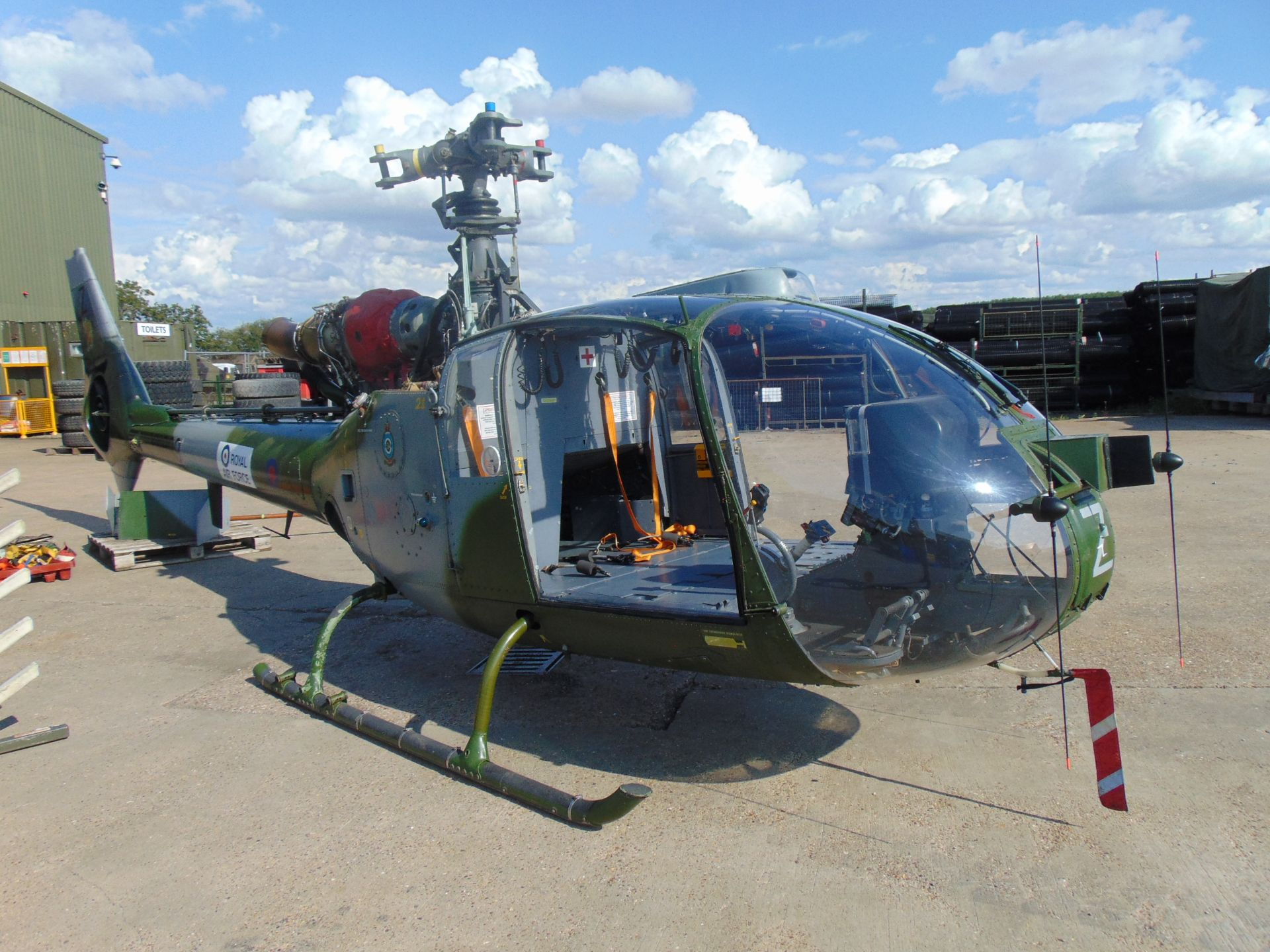 Lot 1 - UK Ministry of Defence Training School Gazelle AH 1 Turbine Helicopter (TAIL NUMBER XW899)