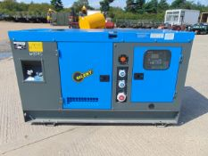 UNISSUED WITH TEST HOURS ONLY 50 KVA 3 Phase Silent Diesel Generator Set