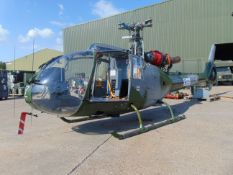 UK Ministry of Defence Training School Gazelle AH 1 Turbine Helicopter (TAIL NUMBER XW899)