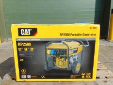 QTY 2 x UNISSUED Caterpillar RP2500 Industrial Petrol Generator Sets