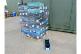 120 x Heavy Duty Tote Storage Boxes with Dividers