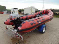 Eurocraft 440 Inflatable Rib C/W Mariner Outboard Motor and Transportation Trailer