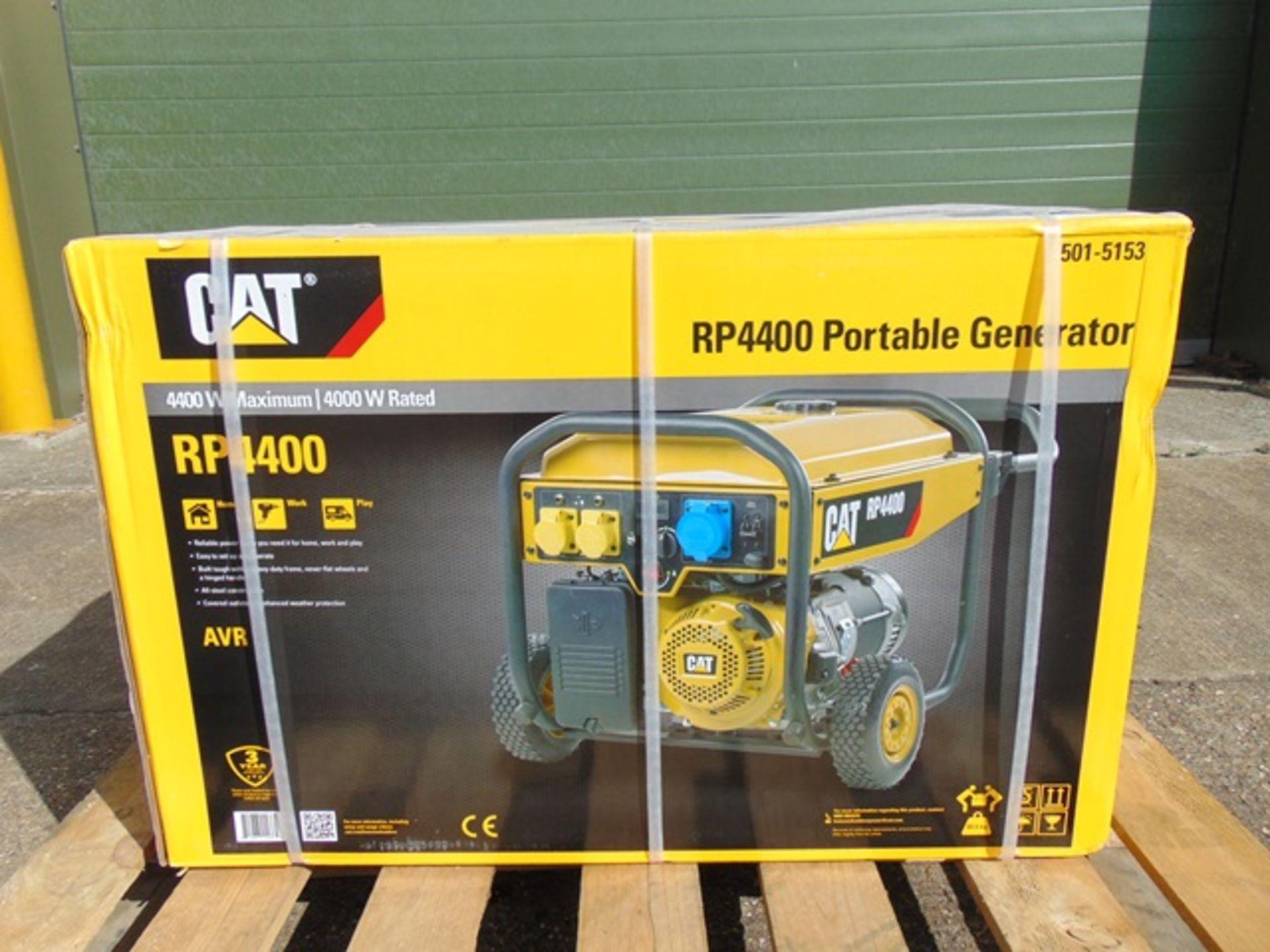 Lot 9 - UNISSUED Caterpillar RP4400 Industrial Petrol Generator Set