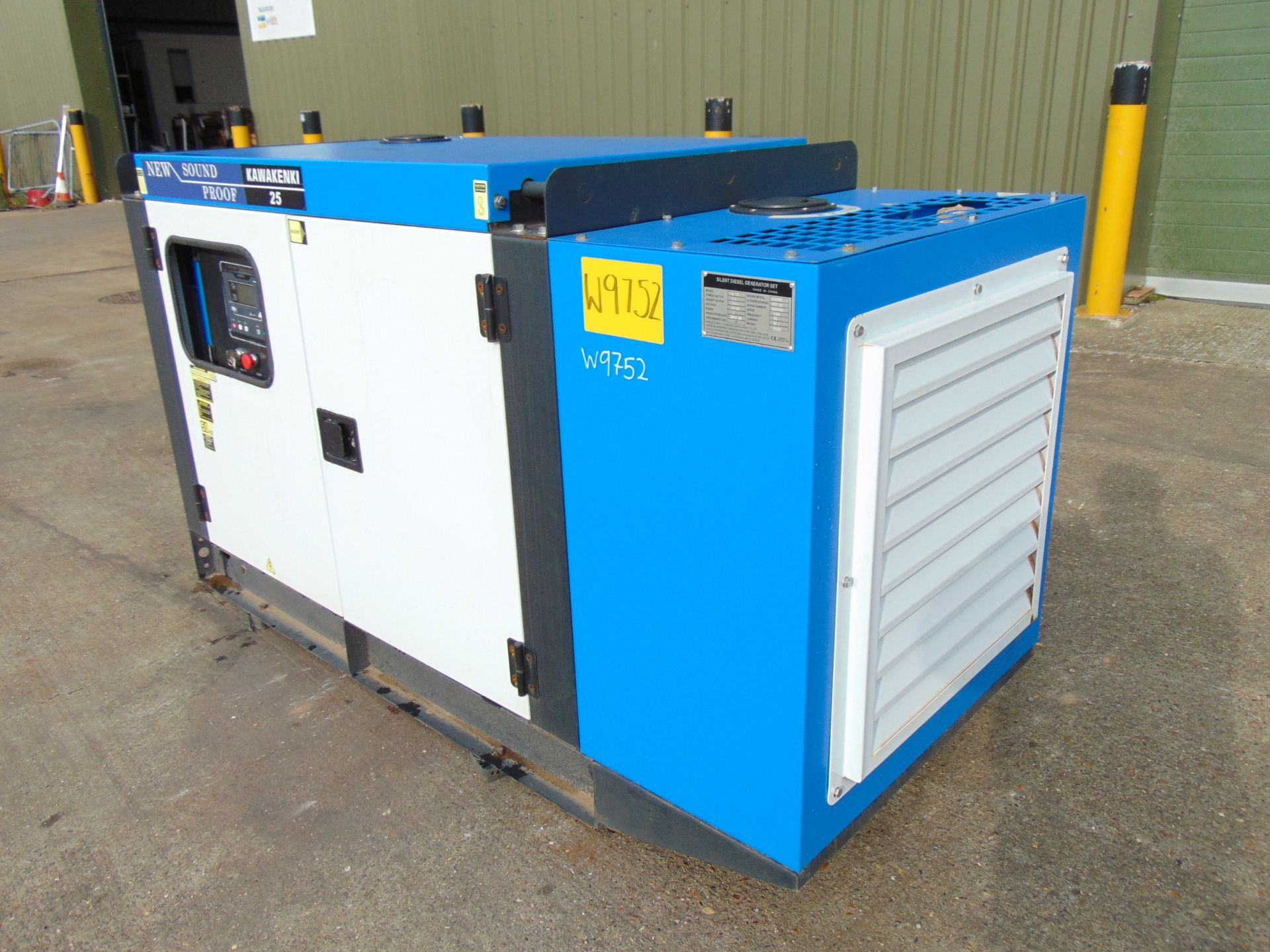 Lot 30 - UNISSUED 25 KVA 3 Phase Silent Diesel Generator Set