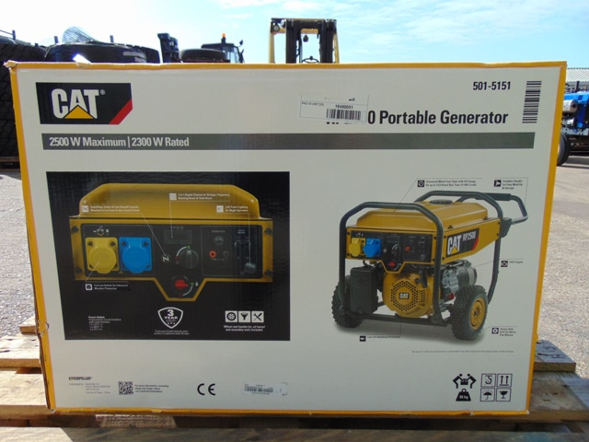Lot 7 - UNISSUED Caterpillar RP2500 Industrial Petrol Generator Set