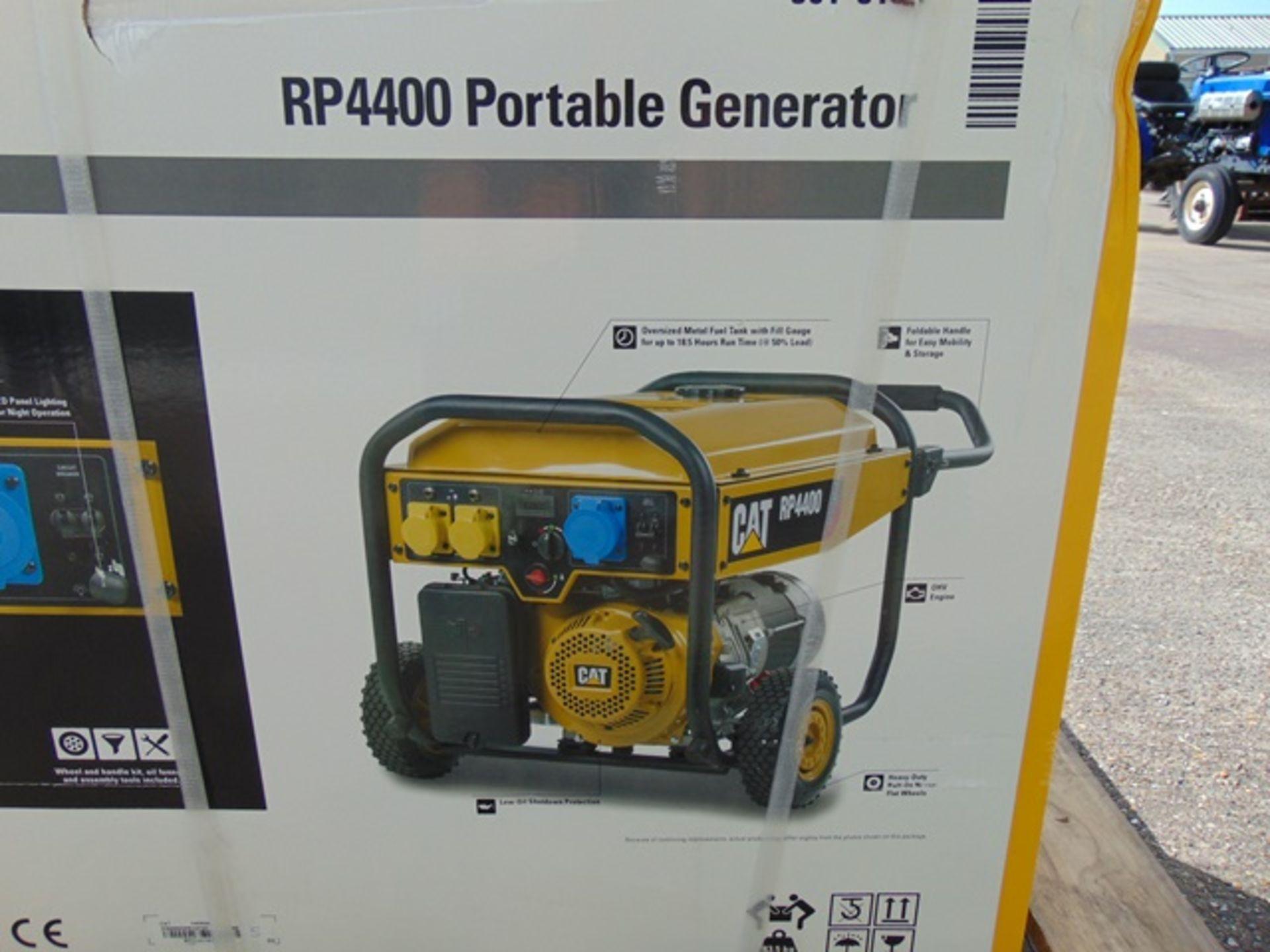 Lot 21 - UNISSUED Caterpillar RP4400 Industrial Petrol Generator Set
