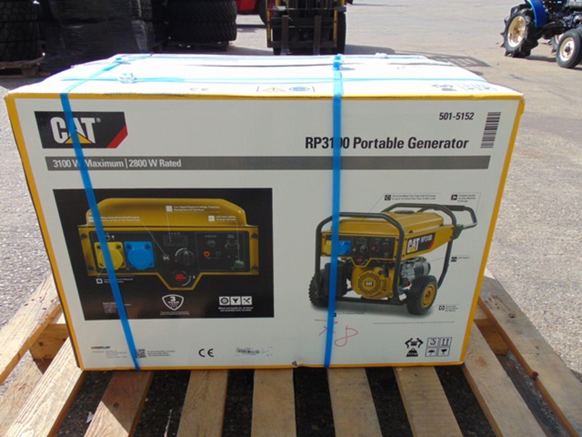Lot 8 - UNISSUED Caterpillar RP3100 industrial Petrol Generator Set