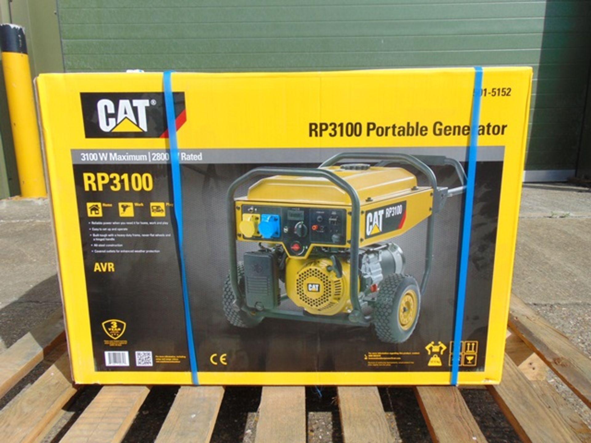 Lot 11 - UNISSUED Caterpillar RP3100 industrial Petrol Generator Set