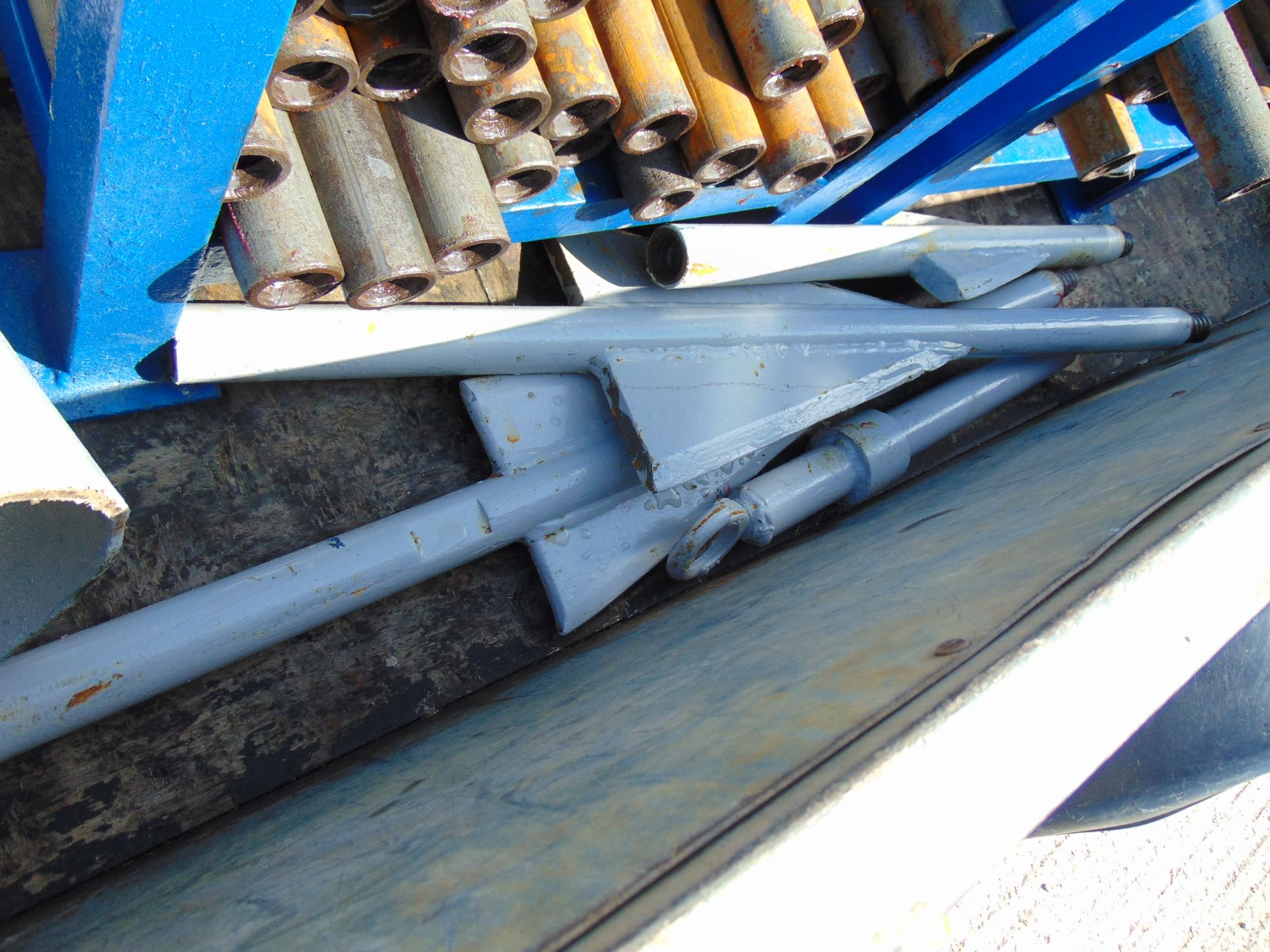 Lot 13 - Grundoburst Trailer Mounted 40 ton Pipe Bursting Rig and Hoses