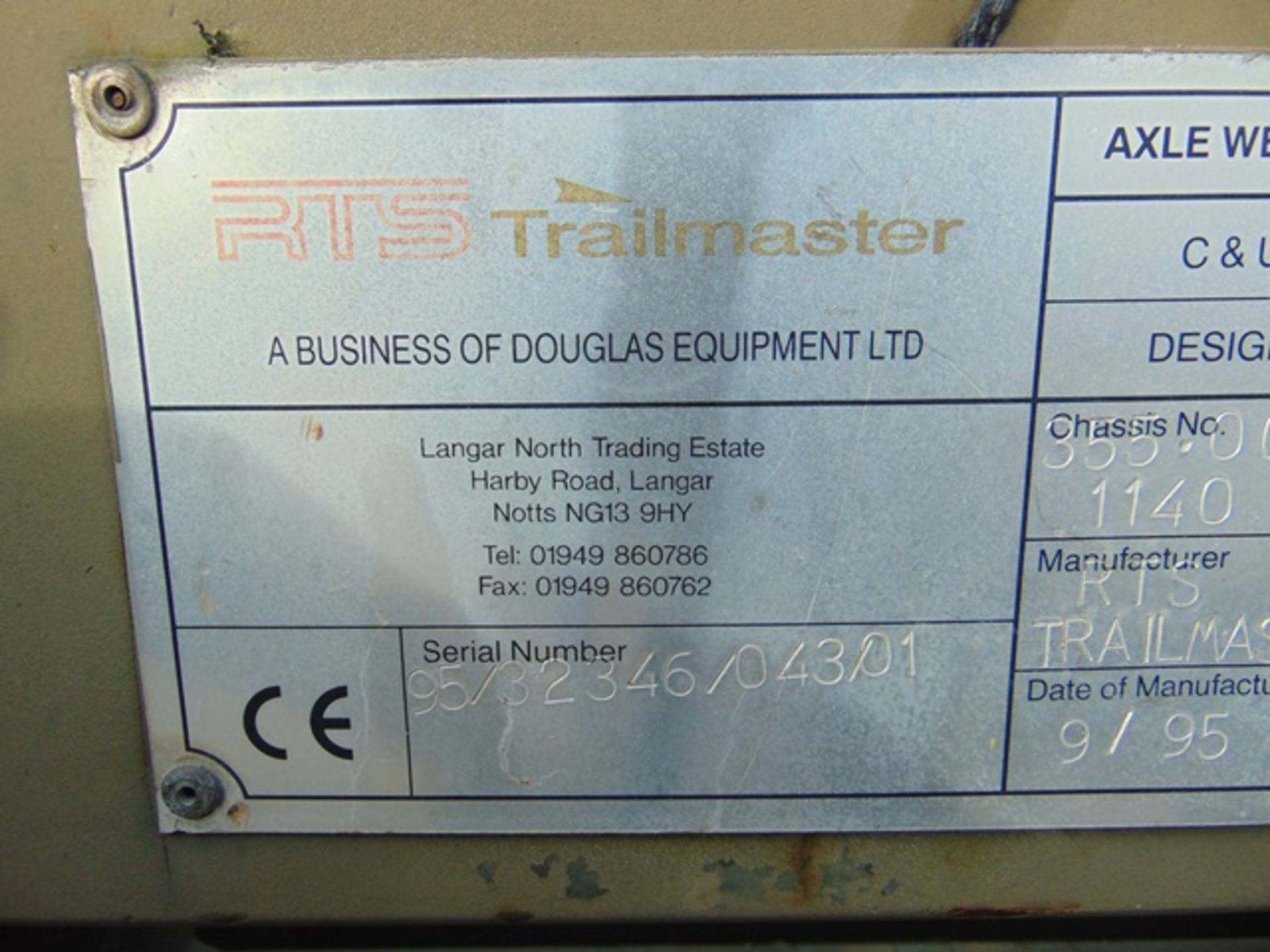 Lot 20 - RTS Trailmaster 355 Container Dolly Set System