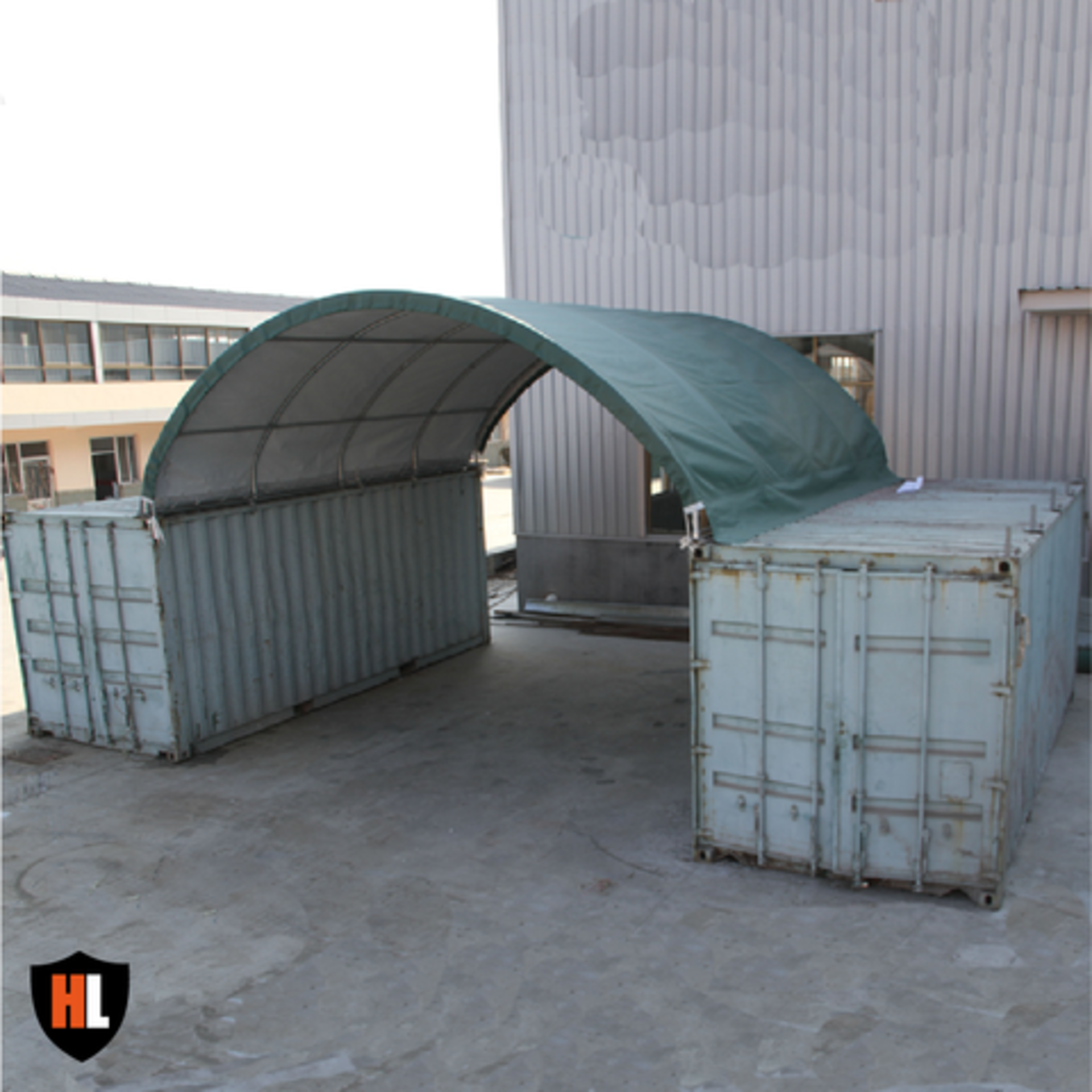 "Lot 23 - Container Shelter 20'W x 20'L x 6'6"" H P/No C2020"