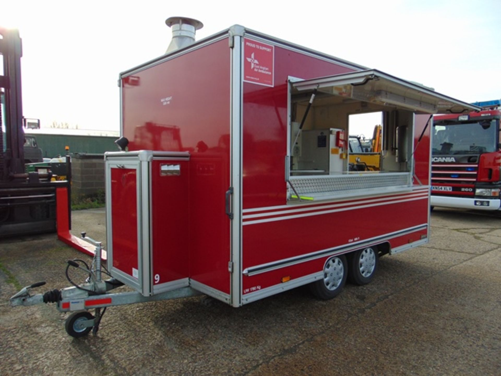 Lot 3 - Ex Fire Service 12ft Towability Catering Trailer
