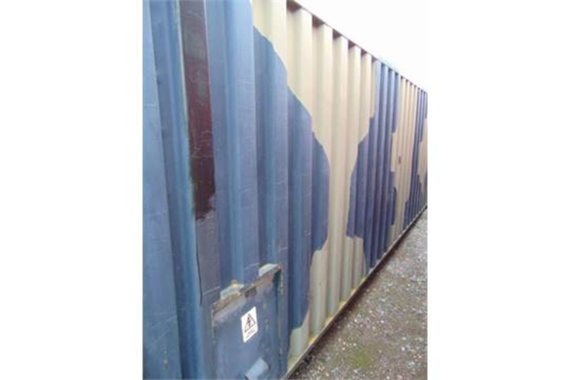 Lot 19 - 20ft ISO Shipping Container complete with fitted internal roller racking storage system & electrics