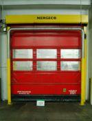 A NERGECO/BERNOS FS2 High Speed Roller Curtain Internal Door, 3.1M x 2.7M Wide Aperture, and A