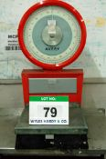 An AVERY 100Kg/220lb capacity Analogue Platform Scales and An Approx. 46 inches x 32 inches