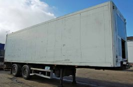 A SCHMITZ CARGOBULL SK018L 10.5M Long Twin Axle Static Insulated Refrigerated Box Trailer with