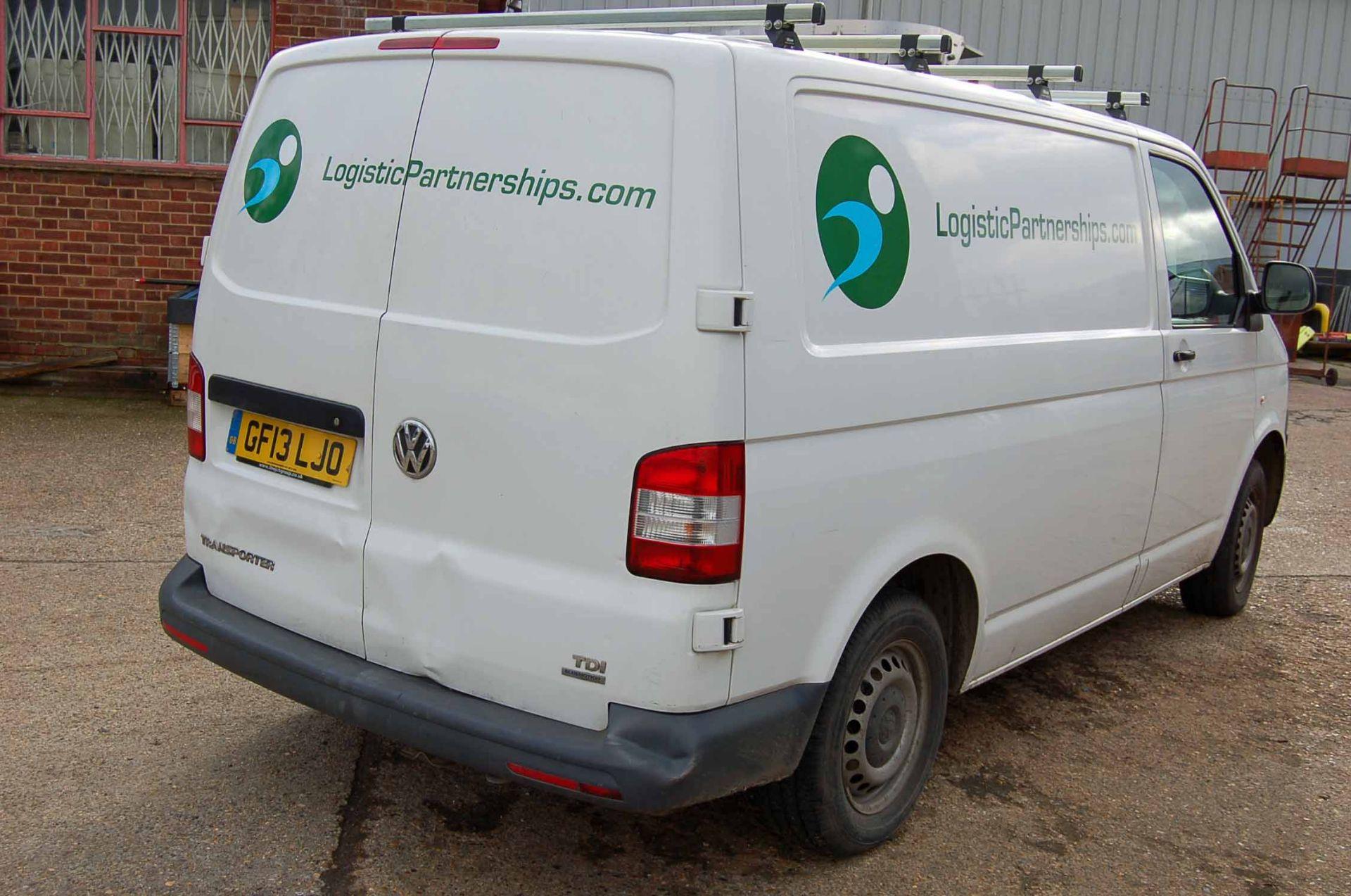 Lot 2 - A VOLKSWAGEN Transporter T28 2.0 TDi Bluemotion, Diesel, SWB Panel Van, Registration No. GF13 LJO,