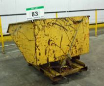 An Yellow Steel Forklift Tipping Skip