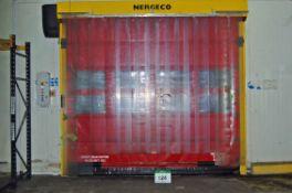A NERGECO/BERNOS FS2 High Speed Roller Curtain Internal Door, 3.1M x 3.5M Wide Aperture and A