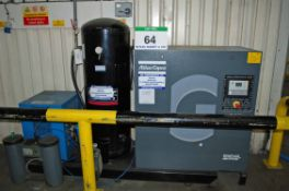 An ATLAS COPCO GA7P Packaged Screw Air Compressor, Serial No. CA1716200 (Year 2013), 7.5-Bar Working