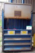 A PEARCE COMPACTION Model HB550 Vertical Electro Hydraulic Twin Ram Waste Baling Press, Serial No.