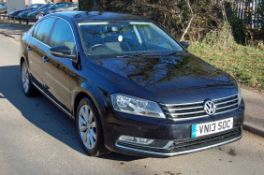 A VOLKSWAGEN Passat Highline 2.0 TDI Diesel Saloon, Registration No. VN13 SOC (2013), First
