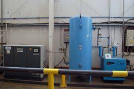 An ATLAS COPCO GA18VSD Packaged Screw Air Compressor, Serial No. AP1423013 (37107 Hours Recorded),