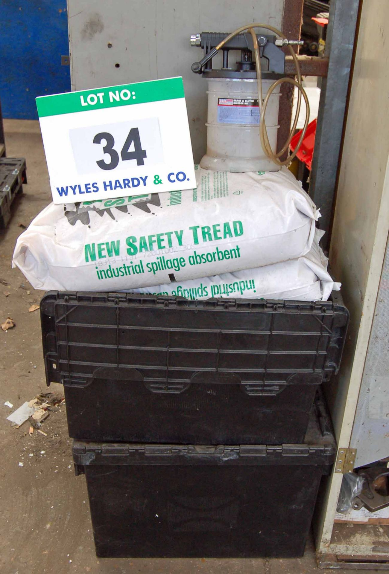 Lot 34 - A SEALEY VS0203 Brake and Clutch Bleeder Kit and A Quantity of New Safety Tread Industrial