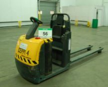 A JUNGHEINRICH ECE225 Battery Electric 2500Kg capacity Ride-On Order Picker Truck with 2M Long Forks