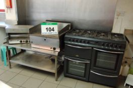 A BELLING G923AN Country Chef 100cm x 65cm x 92cm Tall 8-Hob, 2-Oven Single Grill Gas Electric