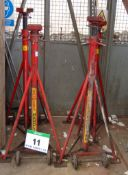 A Set of Four SOMERS HANDLING 7500Kg capacity Commercial Vehicle Mobile Manual Screw Axle Stands