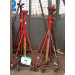Lot 11 - A Set of Four SOMERS HANDLING 7500Kg capacity Commercial Vehicle Mobile Manual Screw Axle Stands