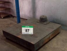 An Approx. 1.4M x 1.25M Steel Portable Platform Scales with A Wall mounted SYTEM 1X 1500Kg x 0.5Kg