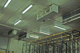 Three Ceiling mounted Triple Fan Chiller Evaporator Units, A Ceiling mounted Twin Fan Chiller