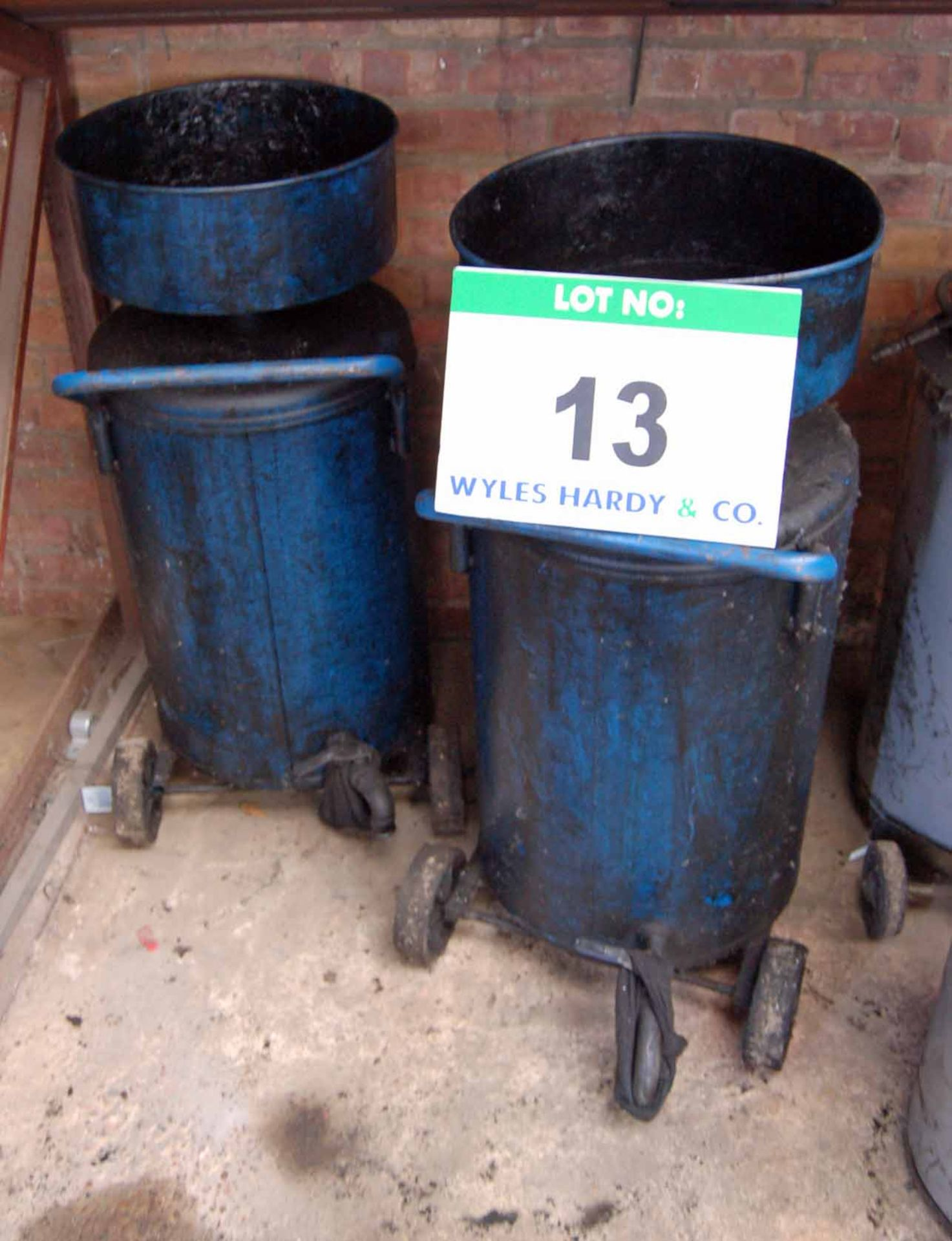 Lot 13 - Two Mobile Oil Drainage Tanks, each with 100-Litre capacity Approx.
