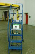 A Blue Steel 5-Tread Mobile Safety Steps, 1.2M Platform Height