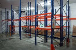 Thirty Six Bays Boltless Steel 2-Tier/Single Tier Racking with Forty Eight Approx. 4M Height