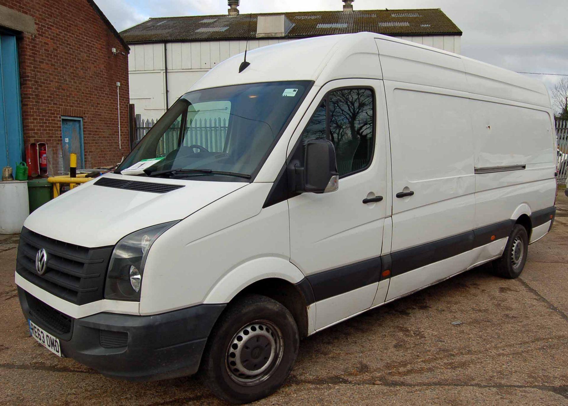 Lot 1 - A VOLKSWAGEN Crafter CR35 109 2.0 TDi Bluemotion, 6-Speed, Diesel Panel Van, Registration No. RE63