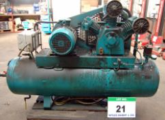 A Triple Cylinder Receiver mounted Air Compressor with REDNAL 272-Litre capacity Air Receiver