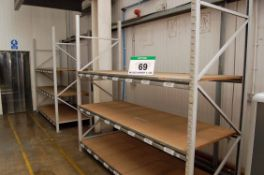 Four Bays Grey/Galvanised Steel Boltless 3-Tier Parts Racking, each Approx. 2.5M x 1M x 2.5M Tall