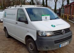 A VOLKSWAGEN Transporter T28 2.0 TDi Bluemotion, Diesel, SWB Panel Van, Registration No. GF13 LJO,