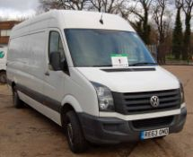 A VOLKSWAGEN Crafter CR35 109 2.0 TDi Bluemotion, 6-Speed, Diesel Panel Van, Registration No. RE63