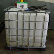 An IBC Container (1000-Litre capacity) with Approx. 200-Litres of GREENOX Adblue for SCR Vehicles (