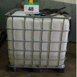 Lot 48 - An IBC Container (1000-Litre capacity) with Approx. 200-Litres of GREENOX Adblue for SCR Vehicles (