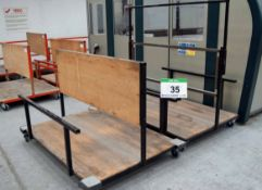 Two 1700mm x 1300mm Welded Steel Materials Handling Trolleys (As Photographed)
