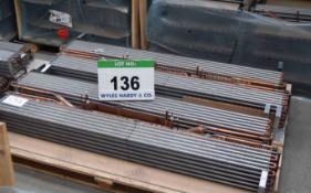 Four MODINE RE73D 1500mm x 250mm x 160mm Evaporator Coils