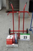 An Unused Twin Gas Bottle Trolley, Regulator Sets, Hoses and Hand Held Torch (As Photographed)