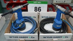 Two Boxes of Hand Operated Air Tools (As Photographed)