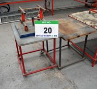 A Welded Steel Assembly Table with Rotating Workpiece Jig and Side Table (As Photographed)