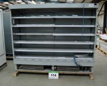 A VERCO C250 2500mm x 2035mm Multideck Chiller Cabinet and Shelving (As Photographed)